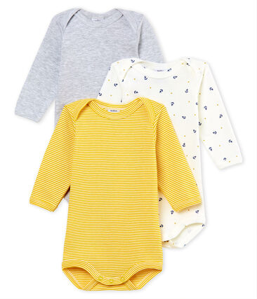 Baby Boys' Long-Sleeved Bodysuit - Set of 3
