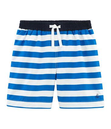 Boys' Beach Shorts Riyadh blue / Marshmallow white