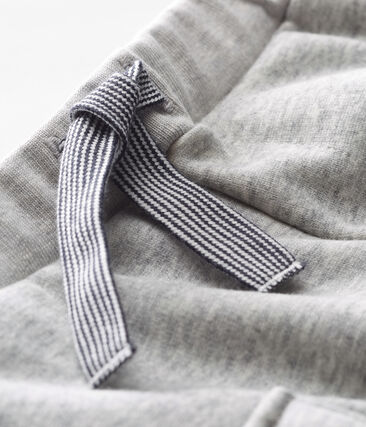 Baby Boys' Velour Knit Trousers Beluga Chine grey