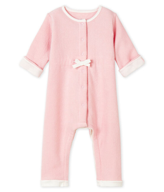 Babies' Unisex Long Pink Jumpsuit in Extra Warm Brushed Terry JOLI