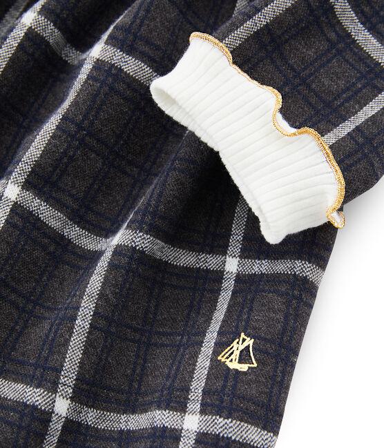 Girls' Checked Knit Dress City black / Multico white