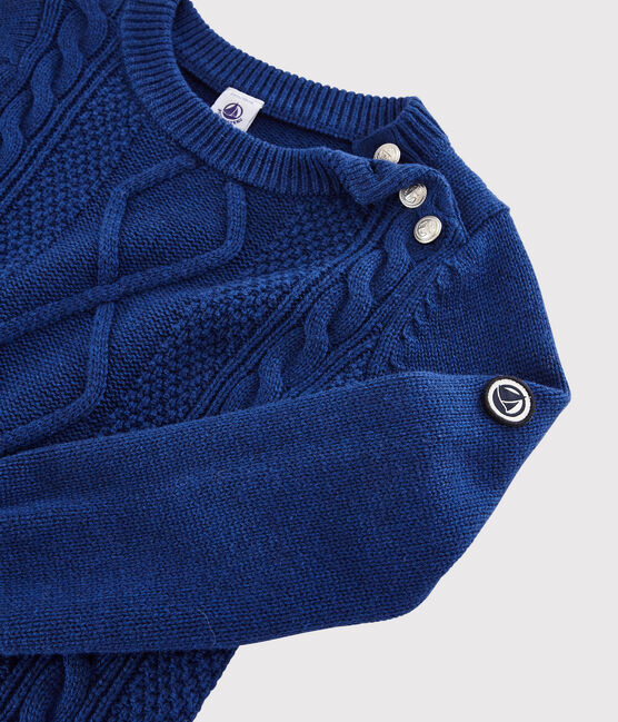 Boys' Wool and Cotton Pullover Major blue