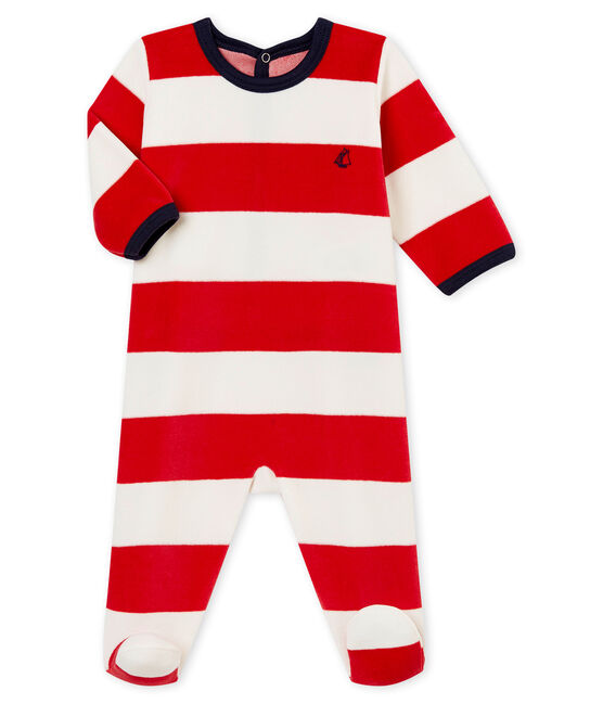 Baby boy's sleepsuit Terkuit red / Marshmallow white