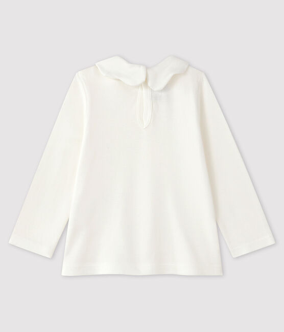 Baby girl's long-sleeved blouse Marshmallow white