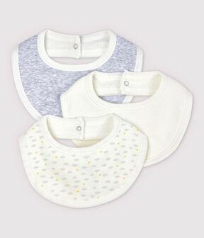 White Organic Cotton Baby Bibs . set