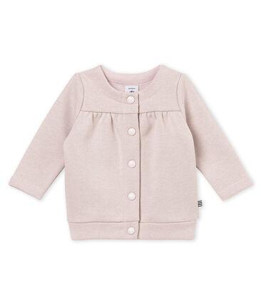 Baby girl's shiny cotton sweatshirt cardigan