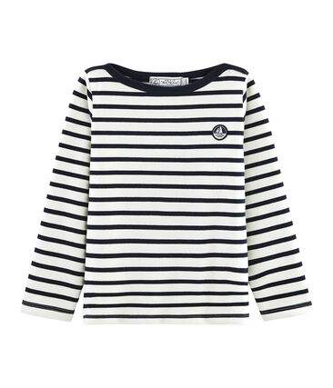 Boys' Iconic Sailor Top Coquille beige / Smoking blue