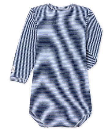 Baby Long-Sleeved Bodysuit in Cotton/Wool
