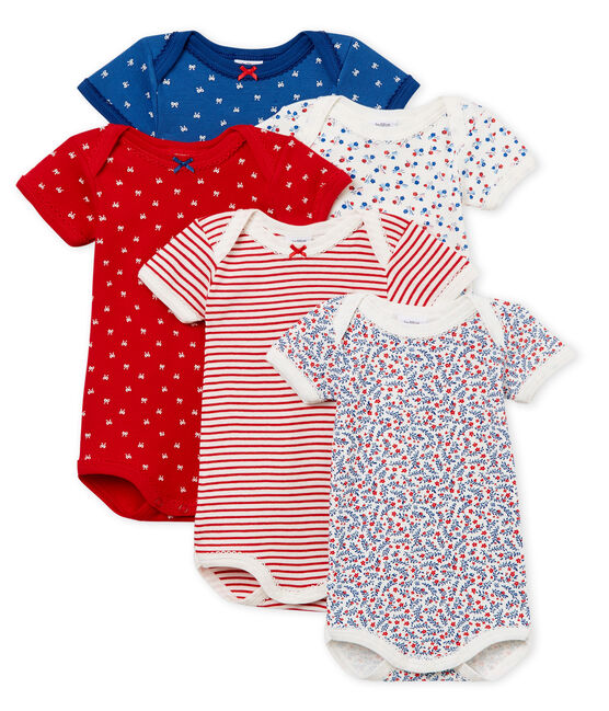 Baby Girls' Short-Sleeved Bodysuit - Set of 5 . set