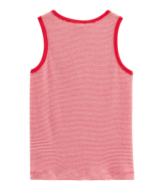 Boys' Vest Peps red / Marshmallow white
