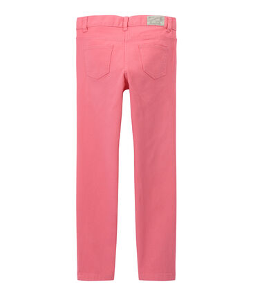 Girls' coloured denim trousers