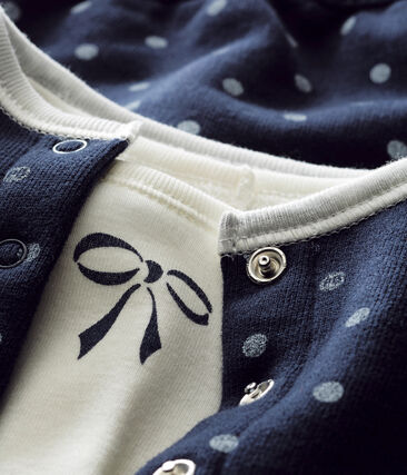 Baby girl's 3 piece polka dot set