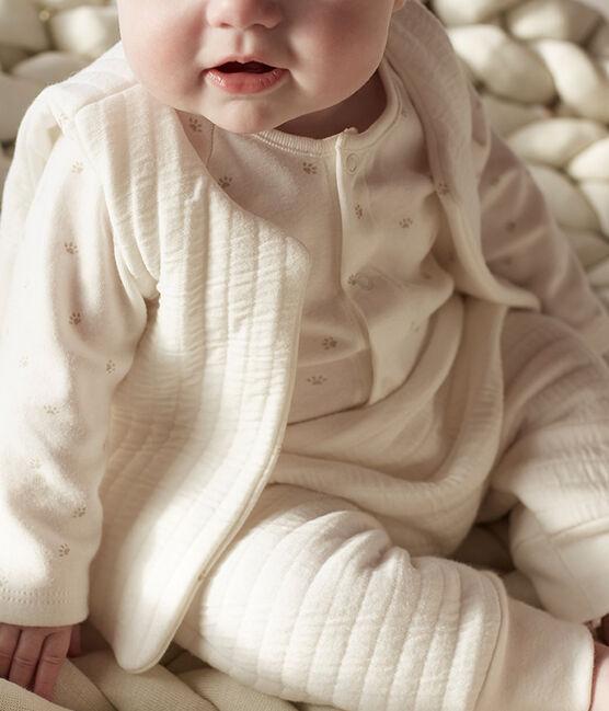 Baby Tube Knit Clothing - 3-piece set Marshmallow white