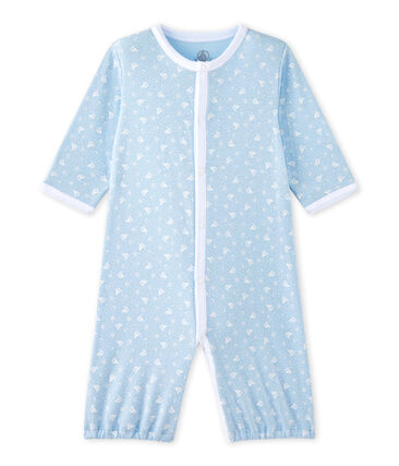 Baby's unisex 2-in-1 one-piece / sleep sack Toudou blue / Ecume white