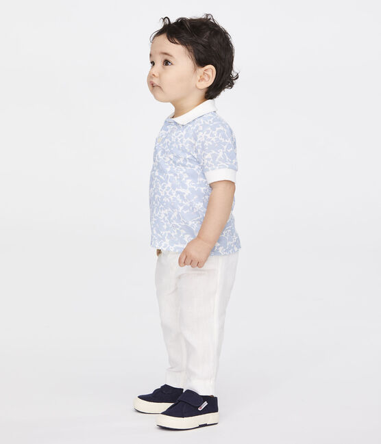 Baby Boys' Linen Trousers Marshmallow white