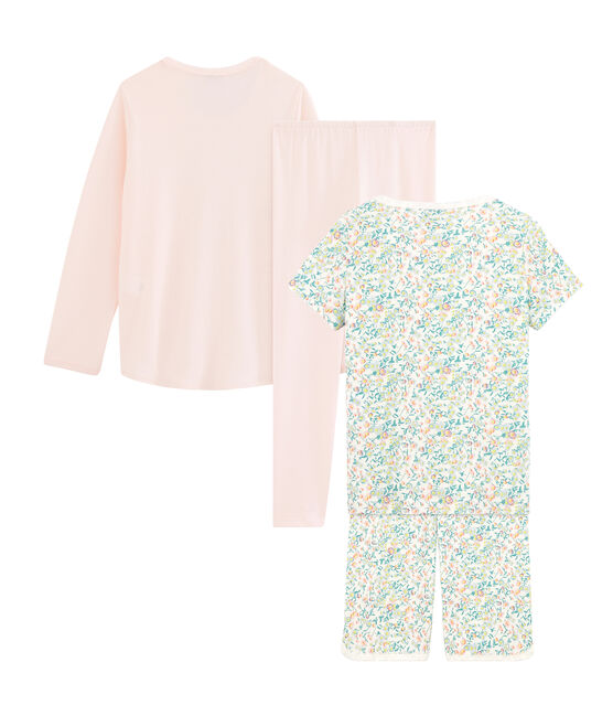 Girls' Ribbed Short Pyjamas - 2-Piece Set . set