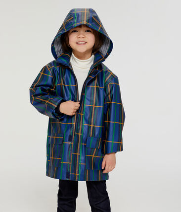 Unisex Children's Raincoat Limoges blue / Multico white