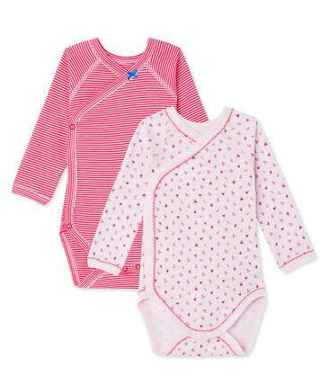Pack of 2 newborn baby girl bodysuits