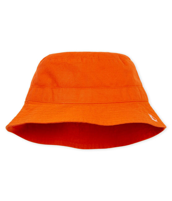 Baby boys' twill sun hat Carotte orange