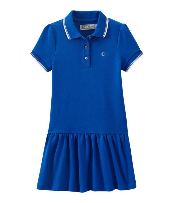 Girl's short-sleeved dress Perse blue