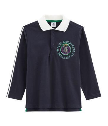 Boys' Polo Shirt Smoking blue