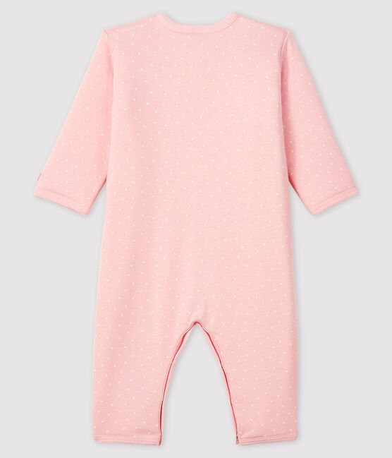 Baby Girls' Footless Padded Ribbed Sleepsuit Minois pink / Marshmallow white