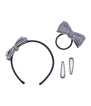 Pack of Girls' Hair Accessories Smoking blue / Coquille beige
