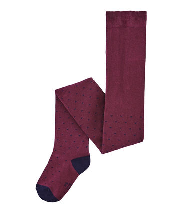 Girl's jersey tights Ogre red / Smoking blue