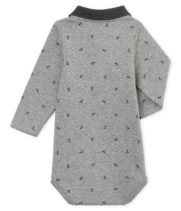 Baby boy's print body with polo collar