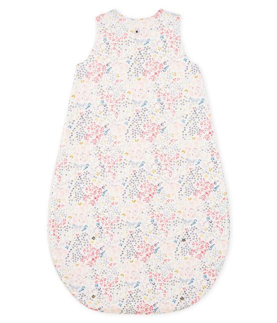 Baby Girls' Reversible Ribbed Sleeping Bag Marshmallow white / Multico white