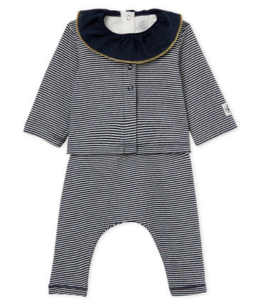 Baby girls' striped clothing - 3-piece set