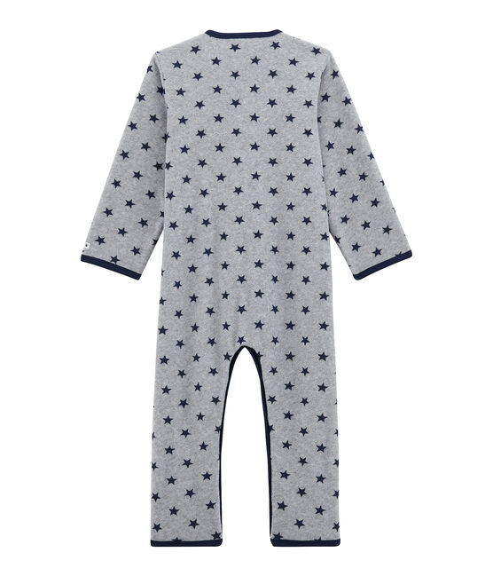 Boys' Fleece Jumpsuit Subway grey / Logo blue