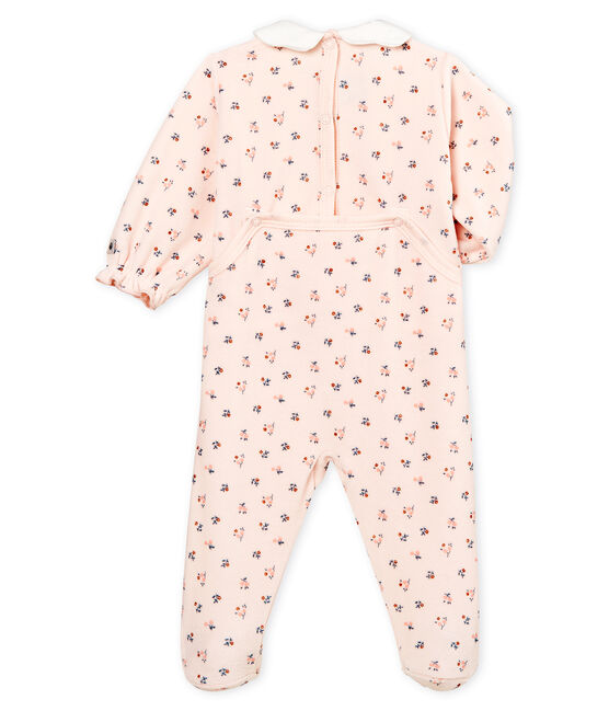 Baby Girls' Velour Sleepsuit Fleur pink / Multico white