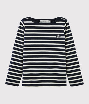 Unisex Jersey Breton Top Smoking blue / Marshmallow white