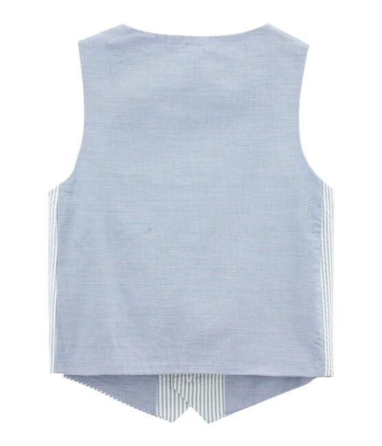Sleeveless Cardigan Fontaine blue / Marshmallow white