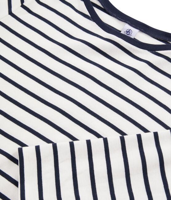 Women's Breton T-Shirt Marshmallow white / Smoking blue