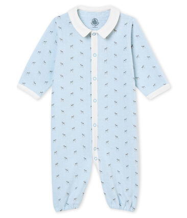 Baby boy's print tubic combi sleepsuit