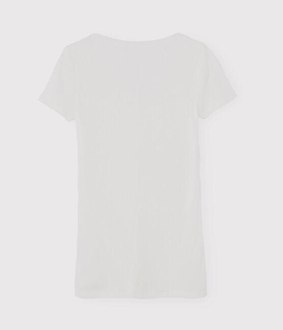 Women's Iconic V-Neck Cotton T-Shirt Ecume white