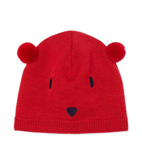 Mixed baby's hat Froufrou red