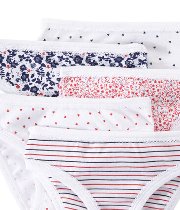 Set of 5 girls' panties . set