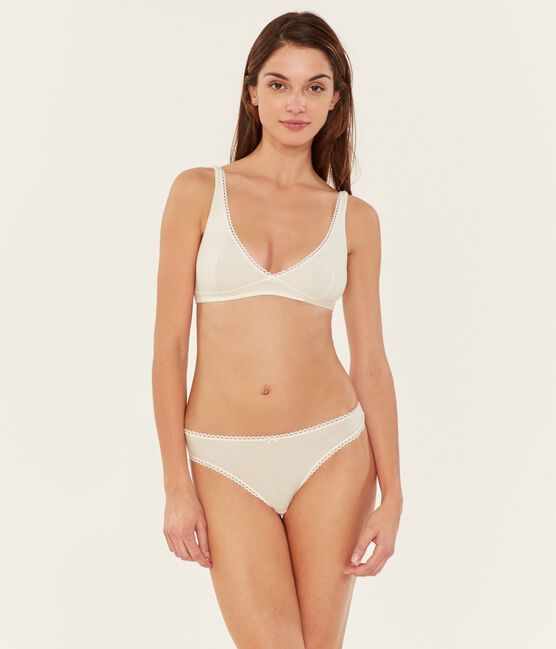 Women's Triangle Bra Marshmallow white