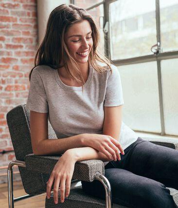 Women's Short-Sleeved Iconic T-Shirt Beluga grey