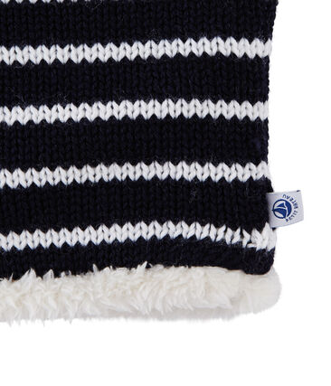 Unisex Children's Snood Smoking blue / Marshmallow white
