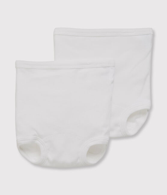 Set of 2 babies' white knickers . set