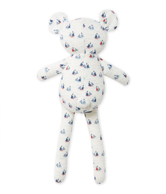 Baby boy's printed teddy bear comforter Lait white / Multico white