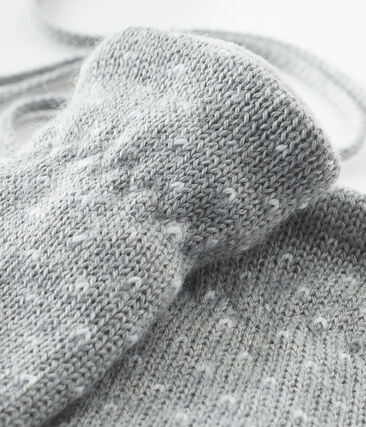 Unisex Baby Fleece-Lined Mittens Subway grey / Marshmallow white