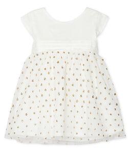 Baby Girls' Dress Marshmallow white / Or yellow