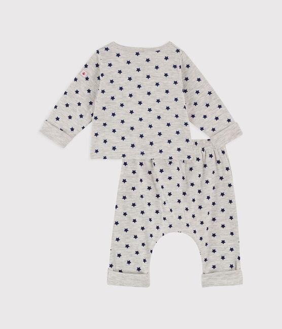 Baby Boys' Spotted Tube Knit Clothing - 3-Pack Beluga grey / Smoking blue