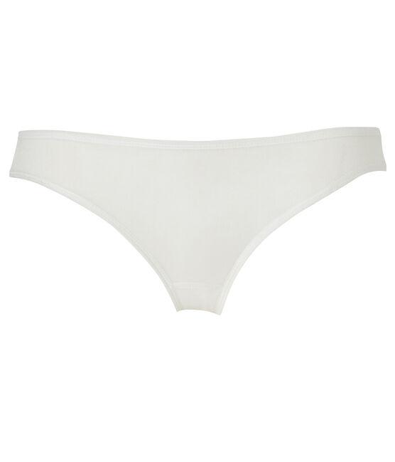 Women's light cotton briefs Lait white