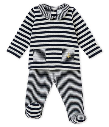 Unisex baby's 2 piece set in a striped tubic